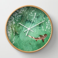 Look at the Shark Wall Clock by gwendalyn abrams