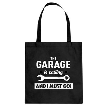 The Garage is Calling Cotton Canvas Tote Bag