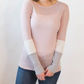 Color Block Top - Pink
