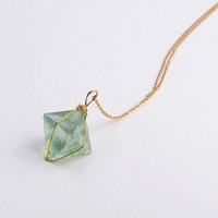 Green Fluorite Pendant Necklace