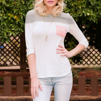 Always There Pocket Top - Blush