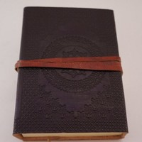 Black Leather Notebook gorgeously embossed