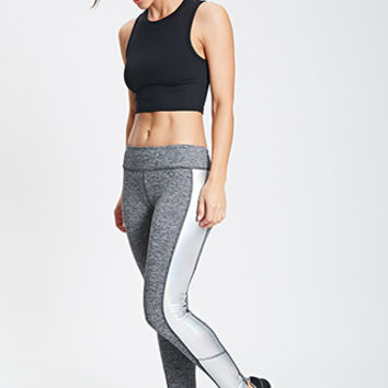 Metallic Paneled Workout Leggings