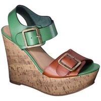 Women's Mossimo Supply Co. Walda Wedge Sandal with Buckle - Green