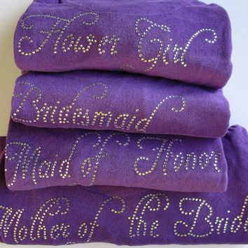 Set of (5) Bridesmaid, Flower girl, Maid of Honor, Bridesmaid Gift, Personalized Gift for Bride, Mother of the Bride, Custom Robe