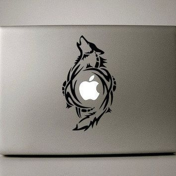 "Wolf Decal - Macbook Pro Retina AIr Decal available for laptops in (11"" 13"" 15"" 17"")"