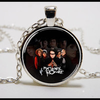 My Chemical Romance Necklace  - MCR Glass pendant  - My Chemical Romance music jewelry