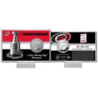 Carolina Hurricanes Stanley Cup inHistoryin Silver Coin Card