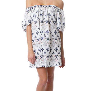 Bringing The Vibes Dress - White Print