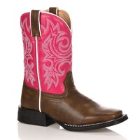 Lil Durango Girls' 8-in. Cowboy Boots (Pink)