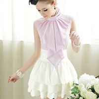 iOffer: women blouse OL sleeves bow knot shirt business tops for sale