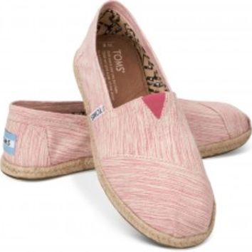 TOMS Pink Space-Dyed Women's Classics Slip-on Shoes,