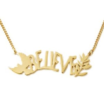 MARC BY MARC JACOBS WOMEN'S LOST AND FOUND 'BELIEVE' NECKLACE - GOLD