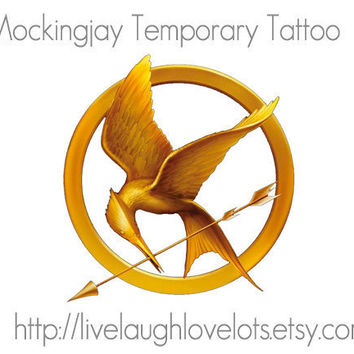 Hunger Games Mockingjay Temporary Tattoos Set by livelaughlovelots