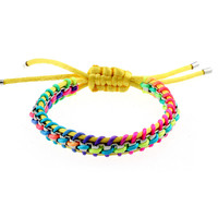 Gay Pride Satin rope chain in Venice Rainbow rope bracelet Charm bracelet & bangles Gay & Lesbian LGBT bracelet for man & woman