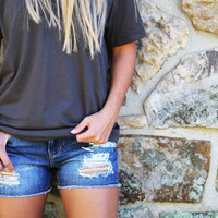 Cropped Denim Shorties