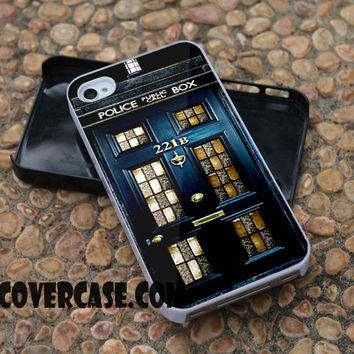 tardis sherlock holmes case for iPhone 4/4S/5/5S/5C/6/6+ case,samsung S3/S4/S5 case,samsung note 3/4 Case
