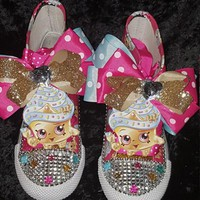 Limited Edition Shopkins Birthday Shoe CUPCAKE QUEEN (CONVERSE)
