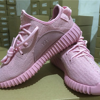 2016 Yeezy Boost Shoes Pink kanye West Athletic Sneakers Shoes Valentine's Day Gift with box size 5-7.5