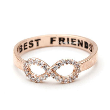 bestfriend ring, infinity ring, best friends ring, friendship ring, girls ring, infinity best friends ring, woman ring, best friends