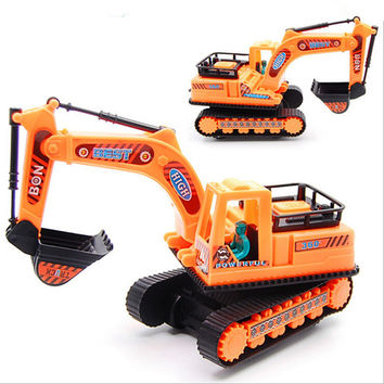 Kids toys with a belt engineering Model car diecast excavator Plastic gift for children boys brinquedos Truck Assembly Recommend