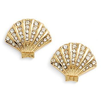Women's kate spade new york 'shore thing' clam stud earrings