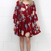 Angel Wing Heavenly Floral Dress {Red Mix} EXTENDED SIZES