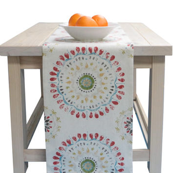 Table Runner White, Red, Green, Yellow, Blue In 72 Inches, 90