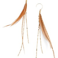 Serefina Glistening Feather Drop Earrings | Nordstrom