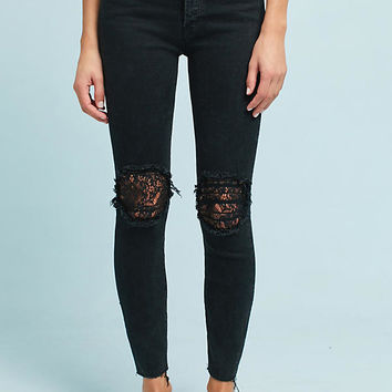 Mother The Super Stunner High-Rise Ankle Jeans