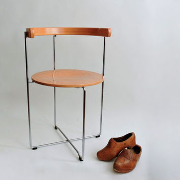 Sóley Dinner Chair. 2750 by Valdimar Harðarson for Kusch & Co. Modernist Folding Chair.