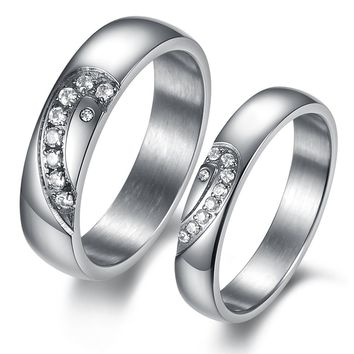 New Arrival Gift Shiny Jewelry Titanium Couple Korean Stylish Fashion Accessory Gifts Ring [11676768079]