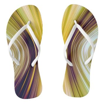 Sea Shell Yellow Driving Dreams Flip Flops