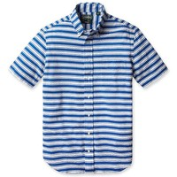 Blue Sailor Stripe Seersucker - Gitman Vintage