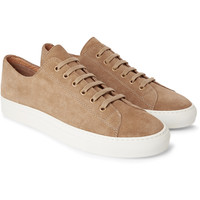 Common Projects - Tournament Washed-Suede Sneakers | MR PORTER