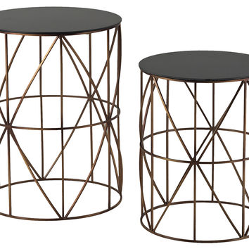 Jolie Side Tables, Set of 2, Acrylic / Lucite, Standard Side Tables