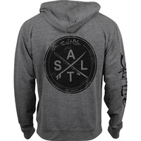 Salt Life Men's Stacked Hoodie Grey