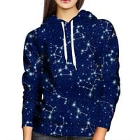 Zodiac Constellation Womens Hoodie