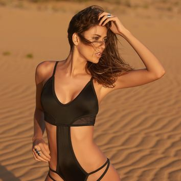 Black Luxury One Piece Swimsuit