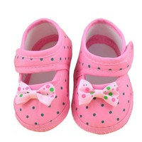 Baby girls shoes Bowknot Boots Soft Crib Shoes
