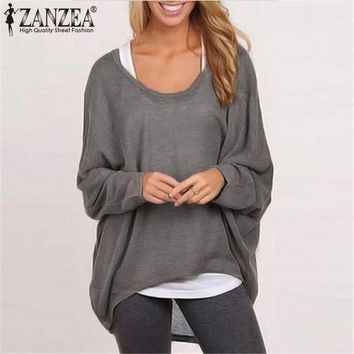 ONETOW Long Batwing Sleeve Casual Loose Top