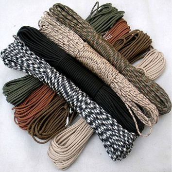 108 colors 100M Paracord 550 Paracord Parachute Cord Lanyard Rope Mil Spec Type III 7Strand  Climbing Camping survival equipment