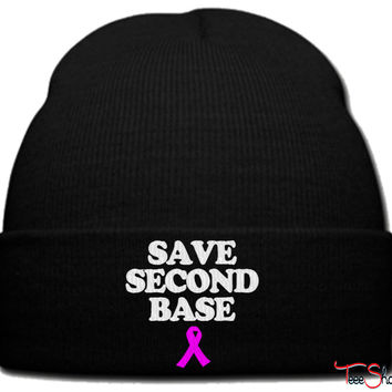 save second base beanie knit hat
