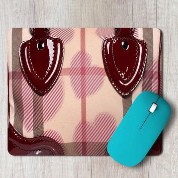 Rectangle Mouse Pad Burberry Bag Satchel Inspired