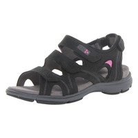 ARAVON REVSOLEIL ADJUSTABLE SANDAL - BLACK