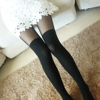 New Thigh high Tattoo Stockings Pantyhose Leggings Tights Pants KK80