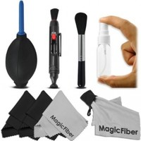 Professional Cleaning Kit for DSLR Cameras and Sensitive Electronics (Canon, Nikon, Pentax, Sony, Telescopes and Binoculars) - Includes: Lens Cleaning Pen System + High Quality Lens Brush + Air Blower Cleaner + 50 Sheets Lens Tissue Paper + Handy Empty Spr