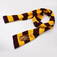 Harry Potter Gryffindor House LOGO Knit Wool Scarf Wrap Cosplay Costume #sclm wish store# = 1957934788