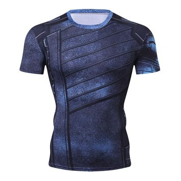 Winter Soldier 3D Printed T shirts Men Avengers 3 Compression Shirt 2018 Comics Cosplay Costume Short Sleeve Tops For Male