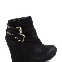 Ranch-02 Zippered Wedge Ankle Boot